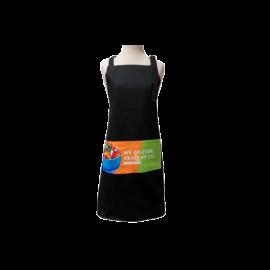 Black Cotton Full Apron Custom Printed Full Colour