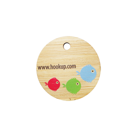 Bamboo Eco Tag Circle 50mm D with hole
