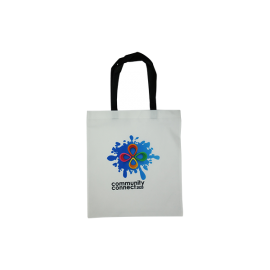 Sublimated Portrait Non-Woven Tote A4 Print Black Handles