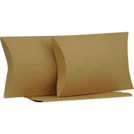Large Brown Kraft Pillow Box Printed