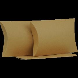 Large Brown Kraft Pillow Box Printed