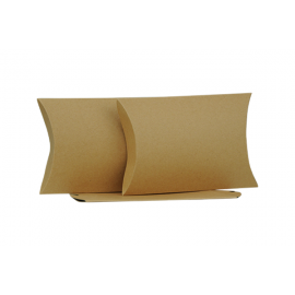 Medium Brown Kraft Pillow Box Printed