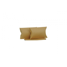Small Brown Kraft Pillow Box Printed