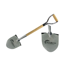Chrome Ceremonial Shovel Etched