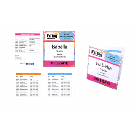 Bi Fold Name Tag Generic Program