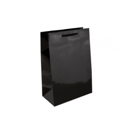Baby Black Gloss Laminated Paper Bag Printed