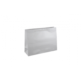 Small Boutique White Gloss Laminated Paper Bag Printed