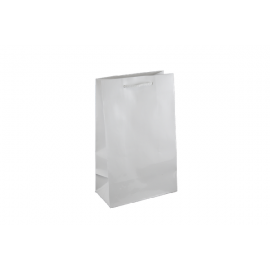 Small White Gloss Laminated Paper Bag Printed