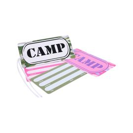 Luggage Tag Hard Plastic with name panel on reverse