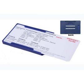 Rigid Blue Proximity or Multiple Card Holder