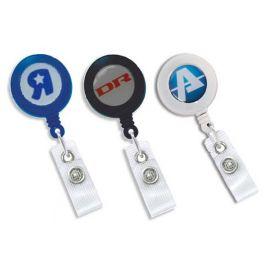 Yo-Yo Badge Reel with Digital Print and Added Epoxy Dome