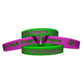 Silicone Wristband 12mm Debossed and Ink Filled