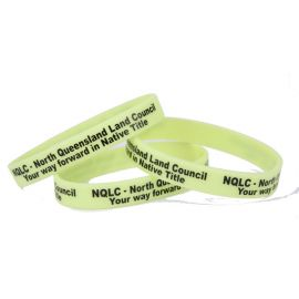 Silicone Wristband Glow in the Dark (Debossed or Printed bands)