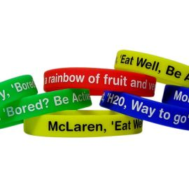 Silicone Wristband 12mm Printed