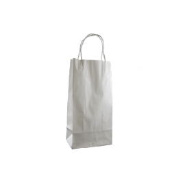 Junior Standard White Kraft Paper Bag Printed