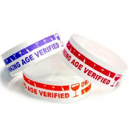 Tyvek Eziband Wristband - Drinking Age Verified