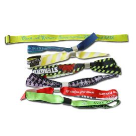 Fabric Wristbands Woven Indent