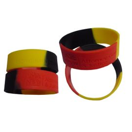 Silicone Wristband 25mm Wide Debossed