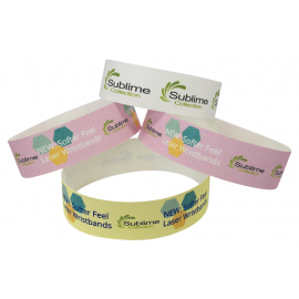 Full Colour 23mm Laser Printed Wristbands Local