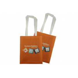 Edge to Edge Sublimated Portrait Non-Woven Tote Long Handles