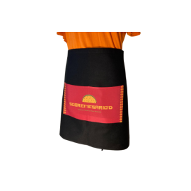 Black Cotton Waist Apron Custom Printed Full Colour