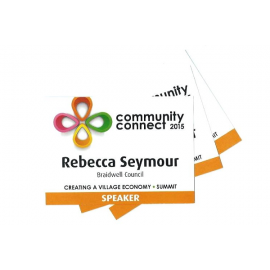 Name Tag 105mm x 74mm Printed with Logo and Name Full Colour Edge to Edge
