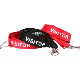 Lanyard Stock Title Visitor with Carabiner Clip