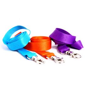 Gemini 15mm Plain Polyester Lanyard with Dog Clip/Carabiner