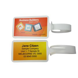 Laser Printed 'Never Tear' Luggage Tags Personalised