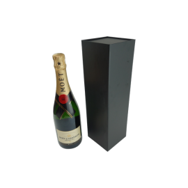 Wine Box with Magnet Closure Matt Black