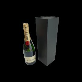Wine Box with Magnet Closure Matt Black