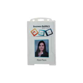 Rigid Clear Security ID card holder -Portrait
