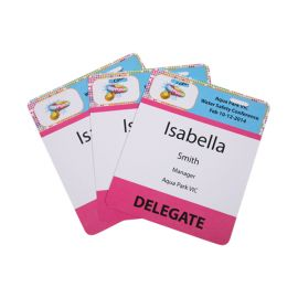 Pocketless Eco-Friendly 300GSM Name Tags - Large