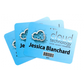 Pocketless Eco-Friendly 300GSM Name Tags - Medium