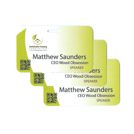 Pocketless Eco-friendly 300GSM Name Tags - Small