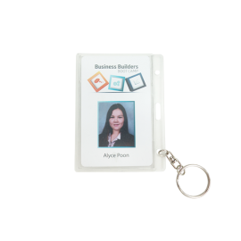 Rigid Security ID card holder with Keyring