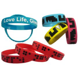 Silicone Wristband 12mm Embossed