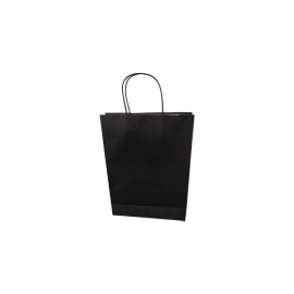 Small Standard Black Kraft Paper Bag