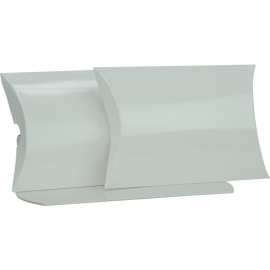 Large White Gloss Pillow Box Printed
