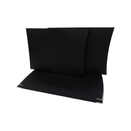 X Large Matt Black  Pillow Box with Gusset Printed
